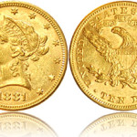 $10 Gold Liberty aka Eagle (1850 - 1907)